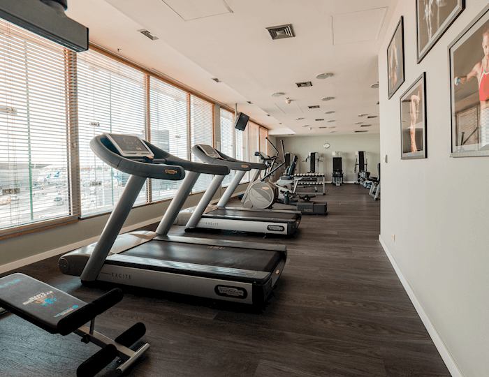 Fitness Center z widokiem na Lotnisko Chopina