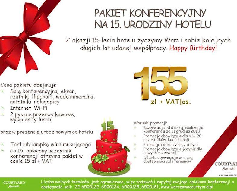 Urodzinowy Pakiet Konferencyjny